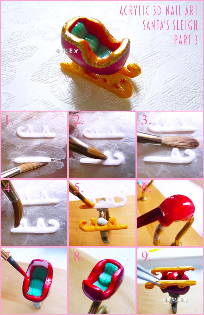 Acrylic 3D Sleigh Part 3
