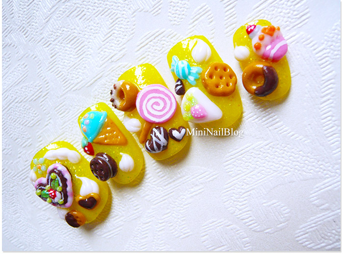 Acrylic 3D Nail Art Candies