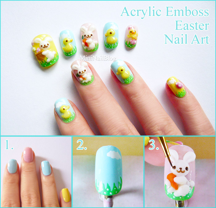 Acrylic Emboss Easter Nail Art Tutorial