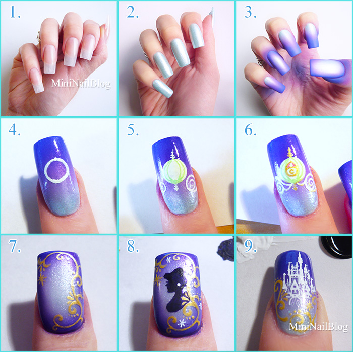 Disney Castle Nail Art Info - Disney Castle Nail Art Best Nail Designs 2018  - Cinderella - Cinderella Nail Art Graham Reid