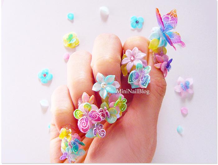3D Butterfly Nail Art
