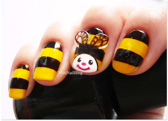 Bee Nail Art Design