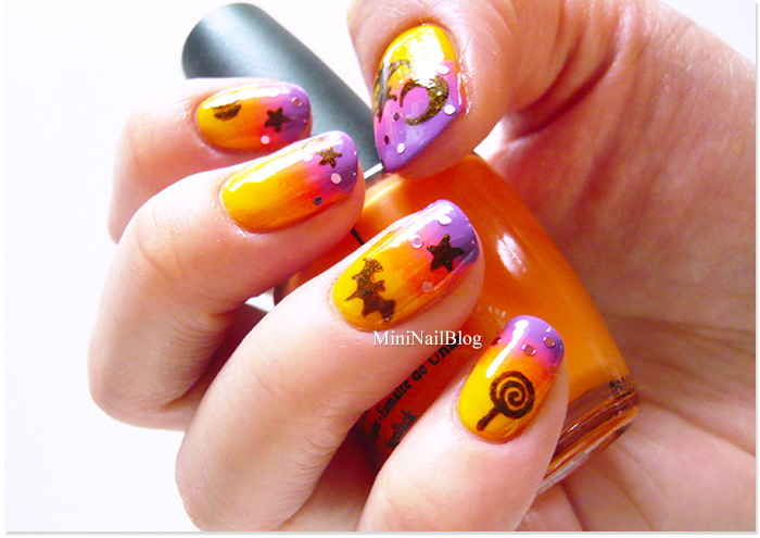 Gradient Halloween Nail Art | nailbees