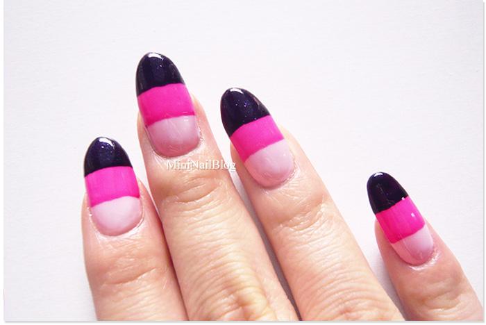 Pink Candy Corn Nail Art