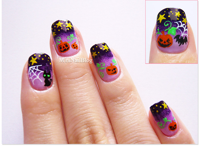 Night Sky Halloween Nails | nailbees