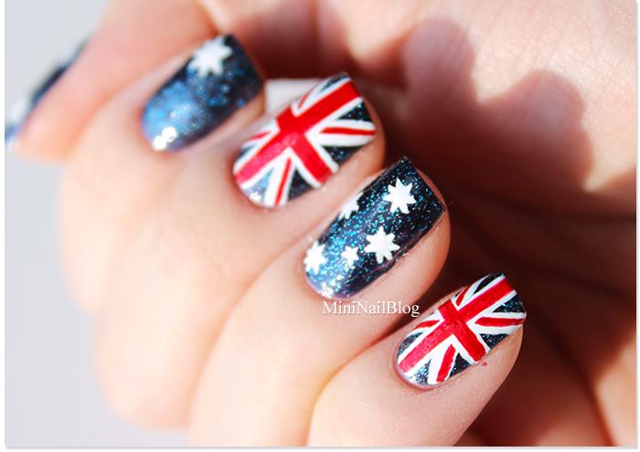 Australia Flag Nail Art - Australia Day Nail Art Nailbees