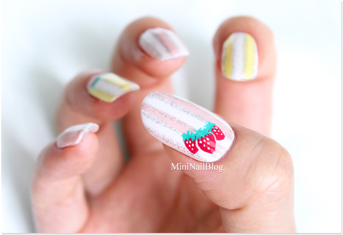 Spring Nail Art with Strawberries