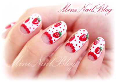 Spring Strawberry Nail Art