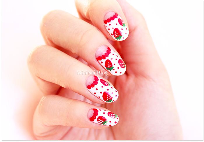 Strawberry Nail Art Easy - Easy Strawberry Nail Art Nailbees