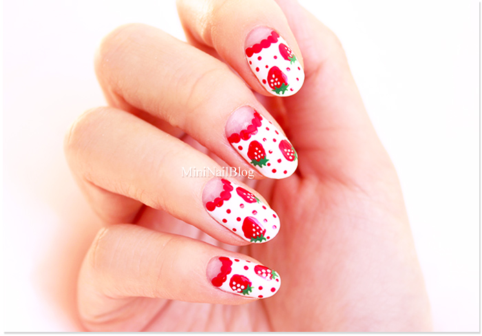 Strawberry Nail Art Easy