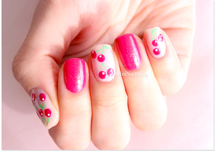 Cherry Nail Art Design Nailbees