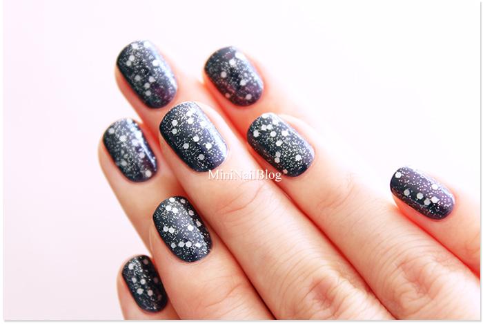 Glittery Navy Nails