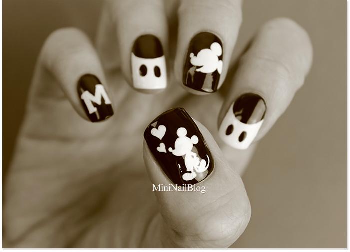 Mickey Mouse Nail Art Design