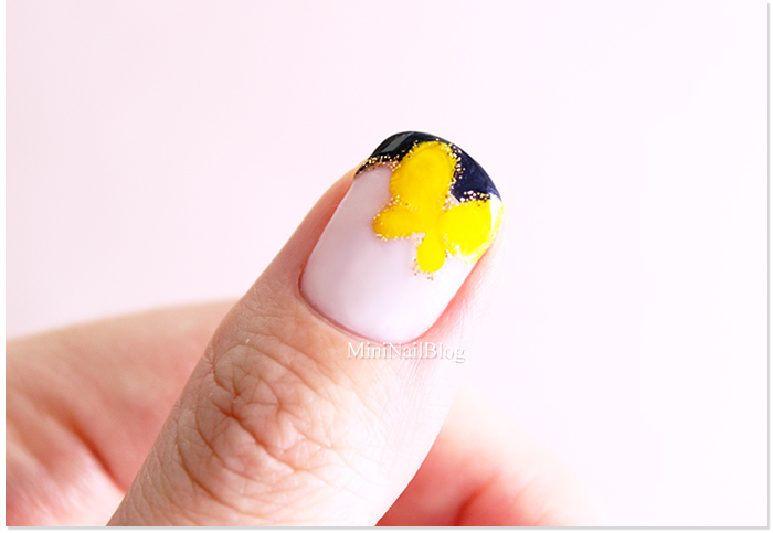 Simple Butterfly Nail Art
