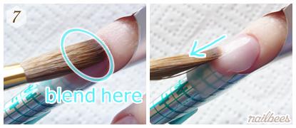 Blend Acrylic Mixture with Natural Nail