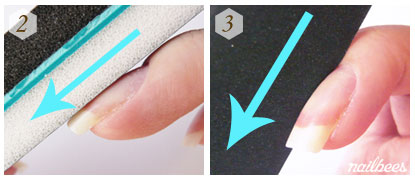 How to Buff Nails Step 2, 3