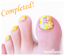 Completed Acrylic Toe Nail Art