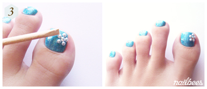 Completed Easy Toe Nail Art