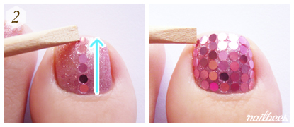 Adding Spangles to Simple Pedicure
