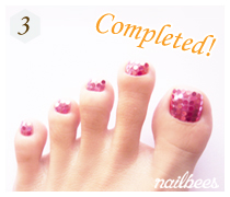 Completed Simple Toe Nail Art