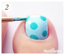 Basic Hand Painted Toe Nail Art
