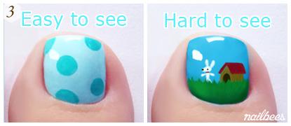 Easy vs Difficult Toe Nail Art