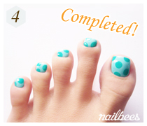Completed Basic Toe Nail Art