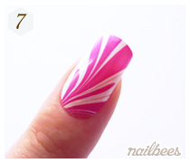 Completed Water Marble Design