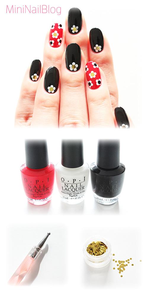 Easy Winter Flower Nails