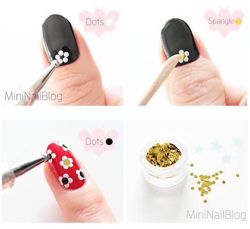 Retro Flower Nails Tutorial