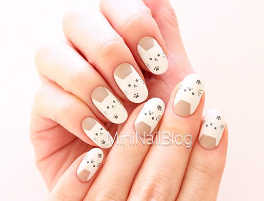 Easy Cat Nail Art