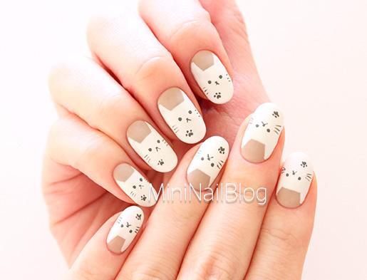 Easy Cat Nail Art