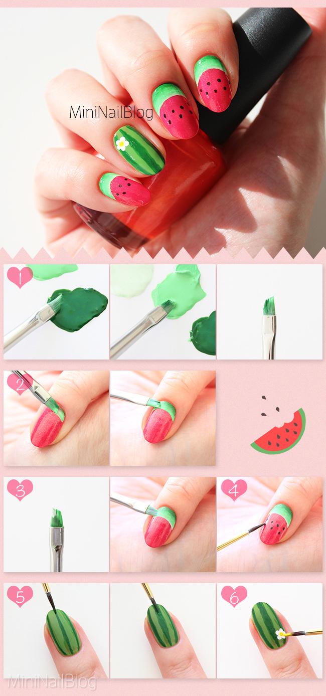Watermelon Nail Art Nailbees