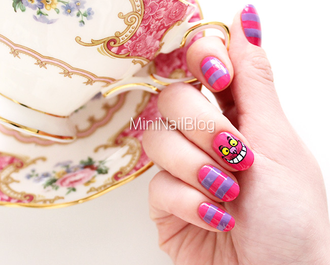 Cheshire Cat Nail Art Design