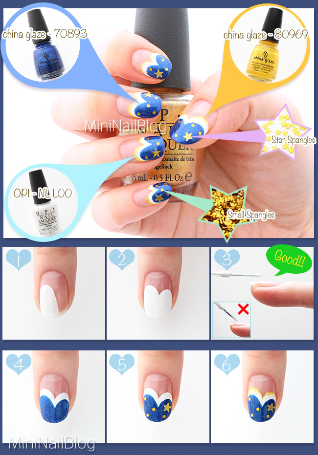 Blue French Nails Tutorial