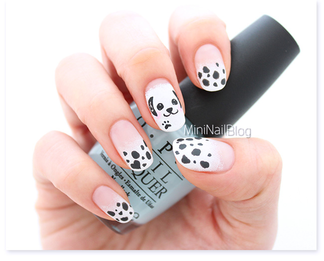 Dalmatian Nail Art