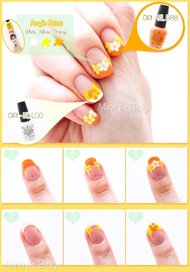Flower French Nails Tutorial