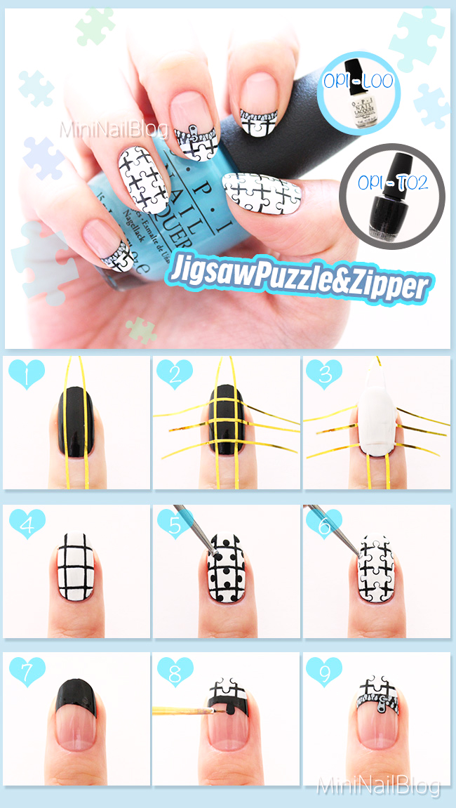 Jigsaw Puzzle Nail Art Tutorial