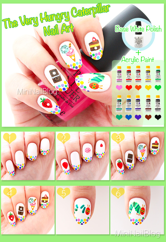 The Very Hungry Caterpillar Nail Art Tutorial