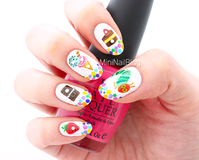 The Very Hungry Caterpillar Nail Art