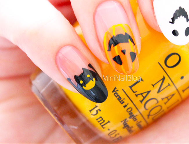 Halloween Tipped Nails | nailbees