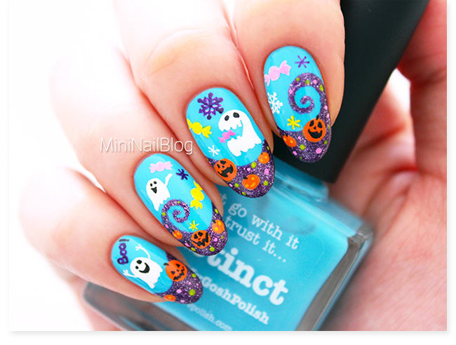 Halloween Ghost Party Nails | nailbees