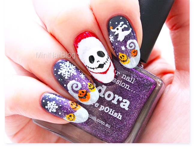 Nightmare Before Christmas Nails - Nightmare Before Christmas Nails Nailbees