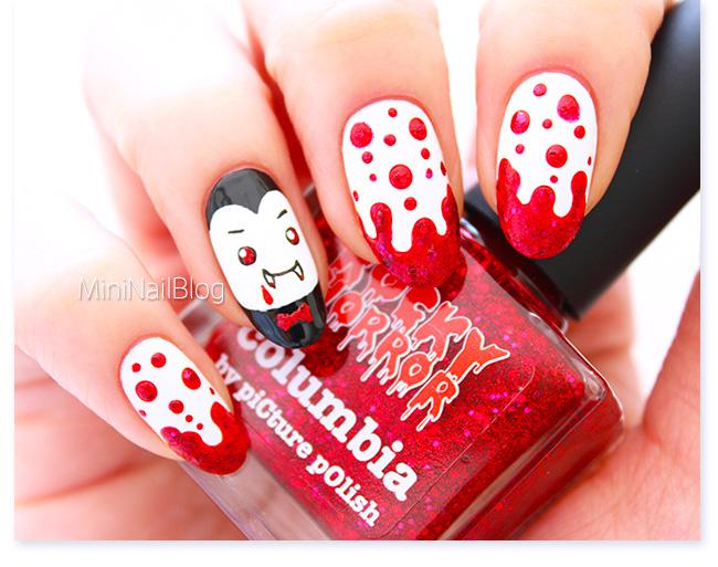 Vampire Nail Art - Vampire Nail Art Nailbees
