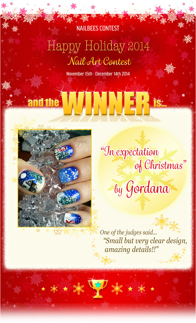 Winter Nail Art Contest 2014 Winner