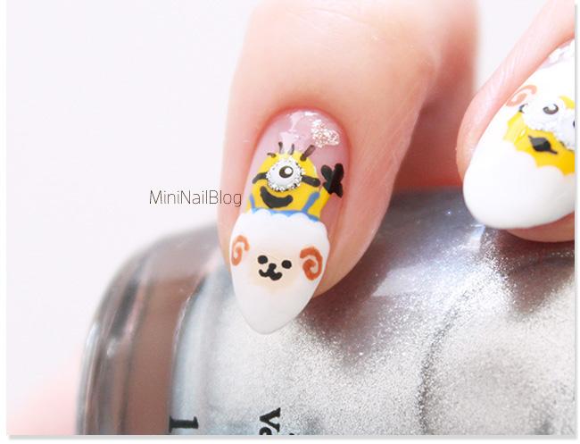 Minions Nail Art Cute