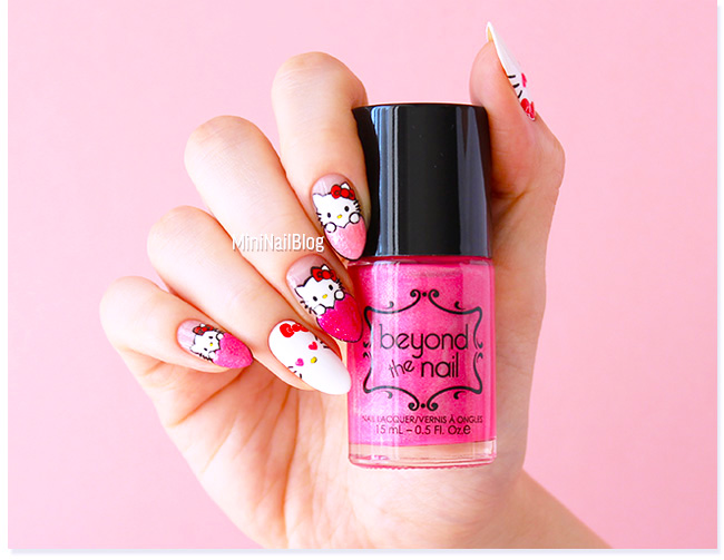 Pink Hello Kitty Nails