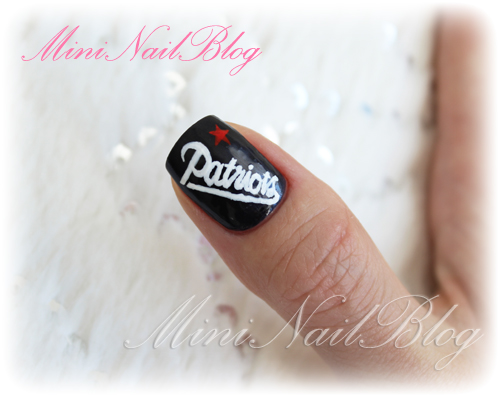 Patriots Logo Nail Art