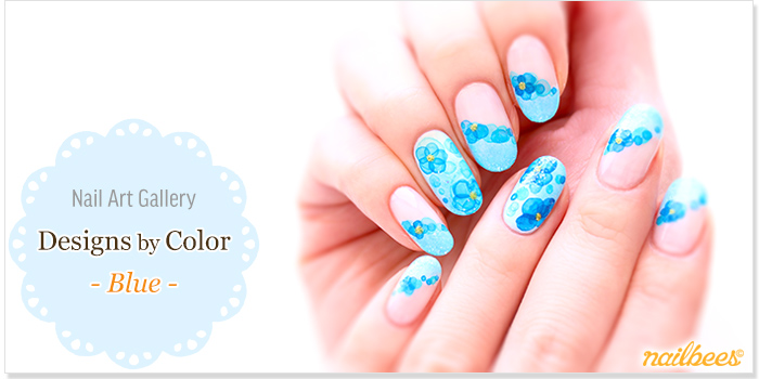 Blue Nail Designs Title