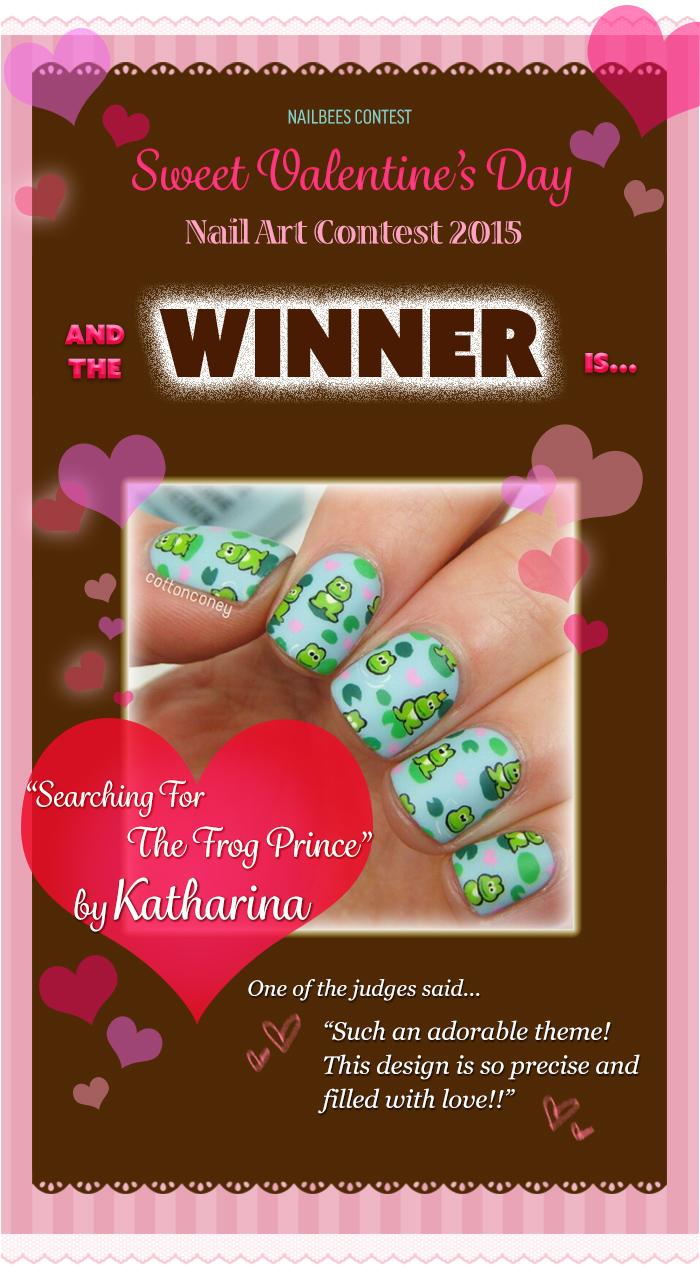 Valentine's Day Nail Art Contest 2015 Winner